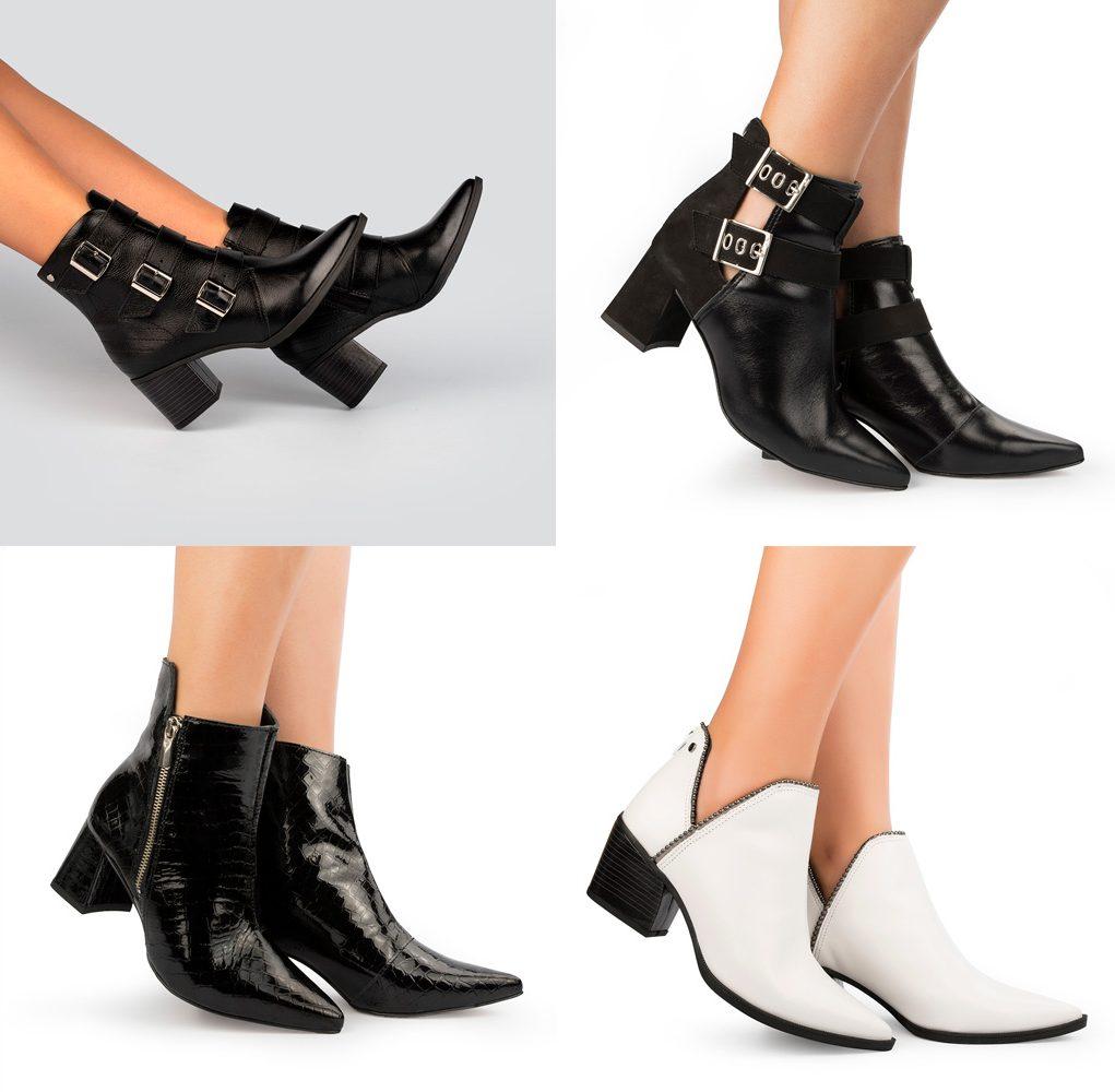 Tanara botas com metais ankle boots