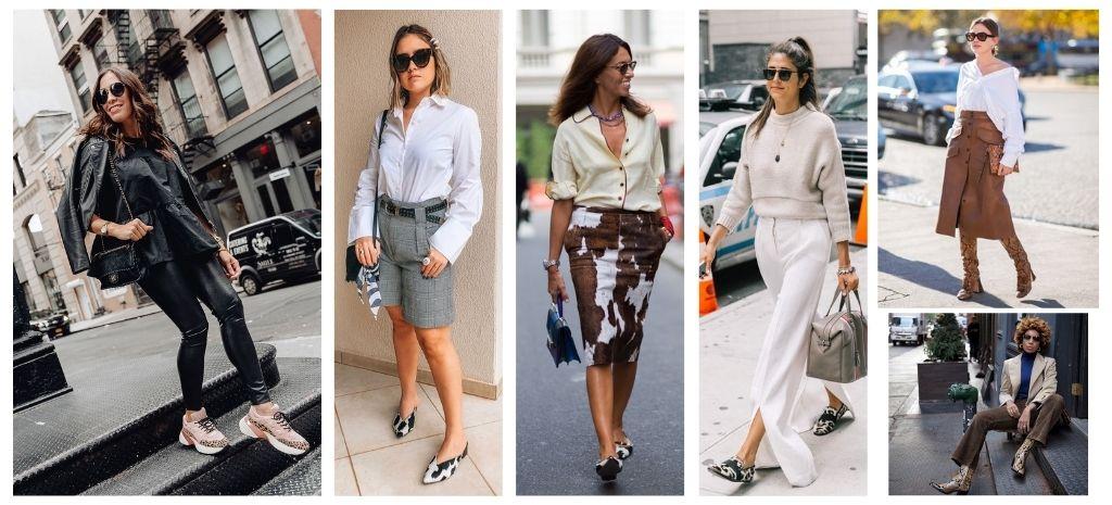 Calçados em Animal Print no Street Style para dia das mães